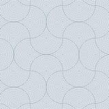 Geometrisk modellvektor Geometriskt enkelt modetygtryck Vektor som upprepar tegelplattatextur Skraj överlappande cirklar royaltyfri illustrationer