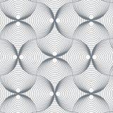 Geometrisk modellvektor Vektor som upprepar tegelplattatextur Det överlappande skraj temat för cirklar eller abstrakt begreppspir vektor illustrationer