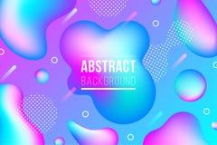 Geometrisk neonvätska formar bakgrund royaltyfri illustrationer