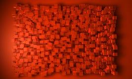 geometrisk orange för bakgrundsblock Royaltyfri Fotografi