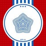 Geometrisk orientalisk arabisk modell ditt designelement logo Fotografering för Bildbyråer