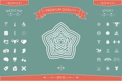 Geometrisk orientalisk arabisk modell ditt designelement logo Arkivfoton