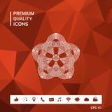 Geometrisk orientalisk arabisk modell för din design Logo för din design Royaltyfri Fotografi