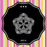 Geometrisk orientalisk arabisk modell för din design Logo för din design Arkivfoton