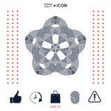 Geometrisk orientalisk arabisk modell för din design Logo för din design Arkivfoto