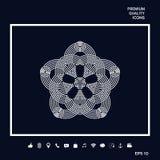 Geometrisk orientalisk arabisk modell för din design Logo för din design Arkivbild