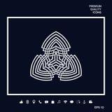 Geometrisk orientalisk arabisk modell logo Royaltyfri Fotografi