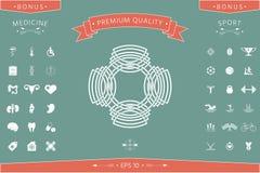 Geometrisk orientalisk arabisk modell logo ditt designelement Arkivfoton