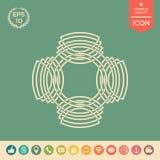 Geometrisk orientalisk arabisk modell logo ditt designelement Royaltyfri Fotografi