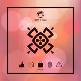 Geometrisk orientalisk modell logo ditt designelement Arkivfoto