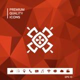 Geometrisk orientalisk modell logo ditt designelement Royaltyfri Bild