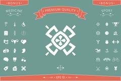 Geometrisk orientalisk modell logo ditt designelement Arkivbilder