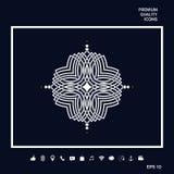 Geometrisk orientalisk modell Logo för din design Arkivfoton