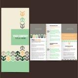 Geometrisk orientering av broschyren Arkivbilder