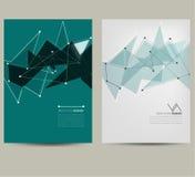 Geometrisk orientering av broschyren Royaltyfri Foto