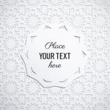 Geometrisk pappers- vektorbakgrund med stället för text stock illustrationer