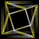 Geometrisk pentagram för uppsättning för astrologi för modellsymbolsstjärna stock illustrationer