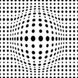 Geometrisk prickig sömlös modell 3d för vektor med prickiga olika storleksanpassade cirklar stock illustrationer