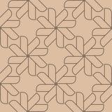 Geometrisk prydnad för beiga och för brunt seamless modell