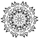 Geometrisk prydnad för Mandala royaltyfri illustrationer