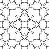 Geometrisk prydnad för vit och för svart seamless modell