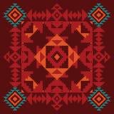 Geometrisk prydnad i etnisk stil royaltyfri illustrationer