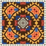 Geometrisk prydnad i etnisk stil vektor illustrationer