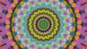 Geometrisk prydnad, levande tapet, kalejdoskopiska regnbågsskimrande linjer, snabba filmstrålar stock illustrationer