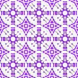 Geometrisk prydnad med violett sömlöst Royaltyfri Fotografi