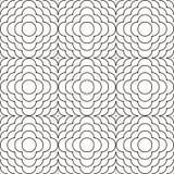 Geometrisk prydnadlinje våg vektor illustrationer