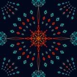 Geometrisk sömlös bakgrund Arkivbild