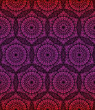 Geometrisk sömlös mandalabakgrund Arkivfoton