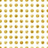 Geometrisk sömlös modell av guld- paljetter Royaltyfri Foto