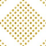Geometrisk sömlös modell av guld- paljetter Royaltyfri Bild