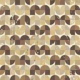 Geometrisk sömlös modell för dekorativ sliten textil, vektorabstr Royaltyfria Bilder