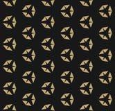 Geometrisk sömlös modell för svart och guld- abstrakt vektor med diamantformer stock illustrationer