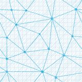 Geometrisk sömlös modell från trianglar Arkivbilder
