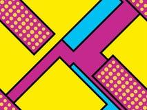 Geometrisk sömlös modell i den memphis stilen av 80-tal Prickar och prickiga linjer Beståndsdelar av stilbauhaus vektor vektor illustrationer
