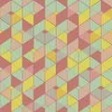 Geometrisk sömlös modell i tappningfärger Royaltyfri Fotografi