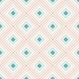 Geometrisk sömlös modell med att upprepa romben Royaltyfri Fotografi
