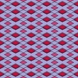 Geometrisk sömlös modell som är röd och som är blå med romben Arkivbilder
