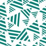 Geometrisk sömlös modell, trianglar konst illustration Royaltyfria Bilder