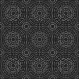 Geometrisk sömlös prydnad för silver vektor Royaltyfri Fotografi