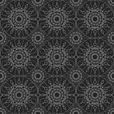 Geometrisk sömlös prydnad för silver vektor Royaltyfria Bilder