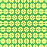 Geometrisk sömlös vårmodell för växt av släktet Trifolium Royaltyfria Foton