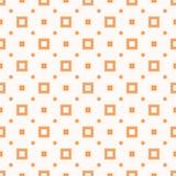 Geometrisk s?ml?s modell f?r skraj orange vektor med sm? fyrkanter och prickar vektor illustrationer