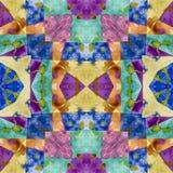 Geometrisk s?ml?s vattenf?rgbakgrund fläckar droppander, oförsiktig vattenfärg akrylen colors handgjort illustrationpapper royaltyfri illustrationer