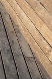 Geometrisk sammansättning med wood plankor Arkivfoton