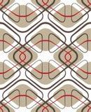 Geometrisk seamless textur för tappning Arkivbilder