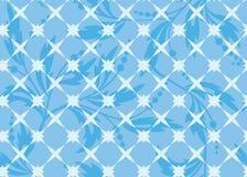 geometrisk seamless texturvektor för blåa floror vektor illustrationer